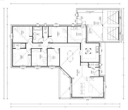 plan maison 6 chambres 32 best images about plan maison on modern