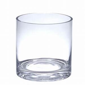 6quot tall clear glass cylinder vase 5quot in diameter With kitchen cabinets lowes with candle holders glass cylinders