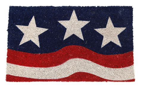 flag doormat door mats patriotic coir doormat 17 quot x 28 quot flag door