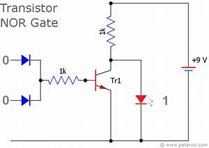 nor gate using diode and transistor dtl With singleledcircuitgif