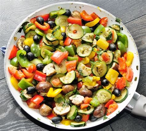 healthy vegetable recipes rainbow vegetable side recipe vegetables olives and vegetable sides