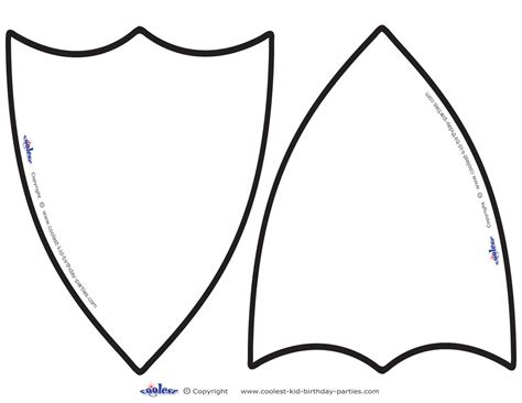 Shield Template Knights Shield Blank Clipart Best