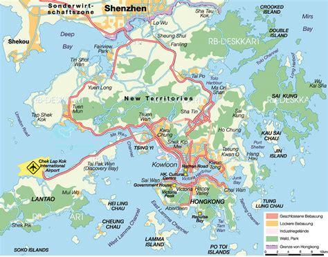 hong kong city map   detailed  printable