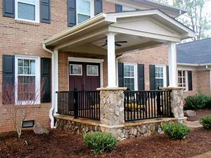 Exterior: Cool Picture Of Front Porch Decoration Using