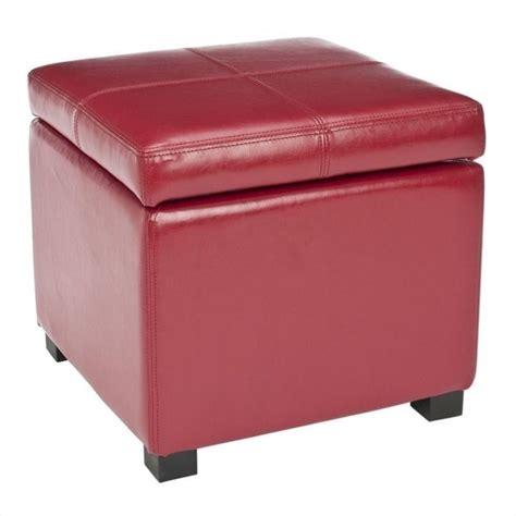 red leather storage ottoman safavieh elizabeth beech wood leather storage ottoman in