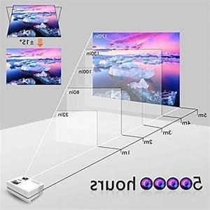 Wonnie Projector  Mini Projector 2400 Lumens 170 U0026quot  Display