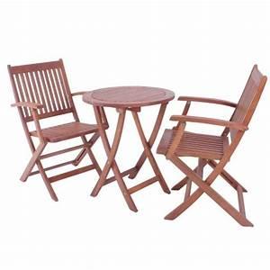 Gartentisch Mit 2 Stühlen : deluxe garten sitzgruppe gartentisch aus eukalyptus holz mit 2 st hlen armlehnen bistrotisch ~ Frokenaadalensverden.com Haus und Dekorationen