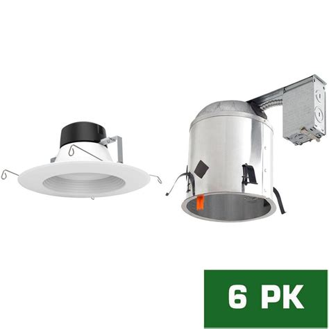 remodel recessed lighting kit envirolite 6 in led recessed remodel housing with