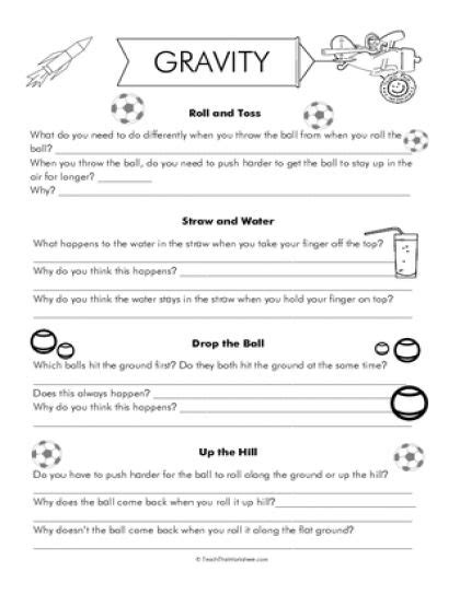 gravity worksheets year 7 gravity worksheets science activities