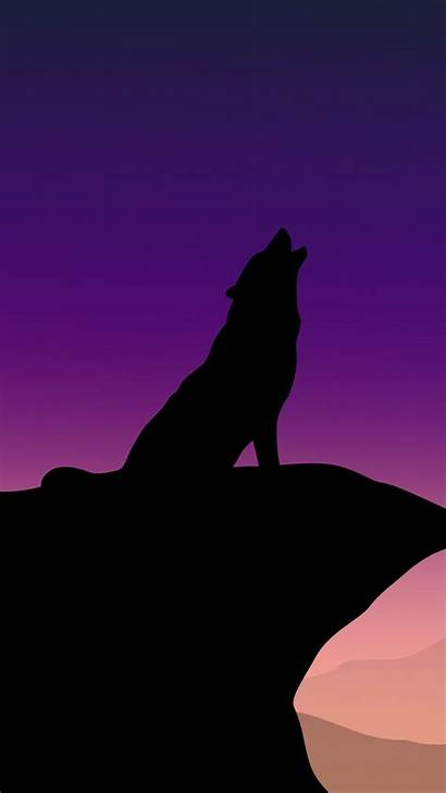 Wolf Howling 4k Minimalism Iphone Pixel Wallpapers