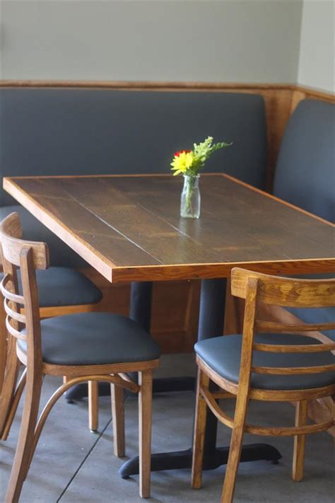 diy pallet dining table  metal base pallet furniture