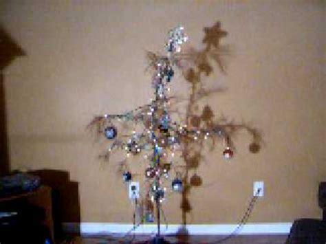 real life charlie brown christmas tree rotating to music