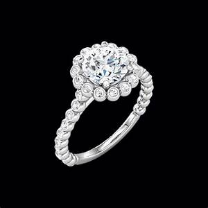 Bezeled halo diamond semi mount for Wedding ring mounts