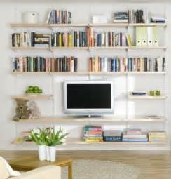 Decorating Bookshelves In Living Room by Elfa Living Room Shelving Best Selling Solution Home
