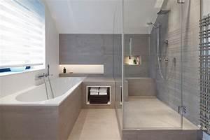 Bad Mit Dachschräge Dusche : steinr cke fsb gmbh bad raum in perfektion modernes bad mit lichtregal ~ Sanjose-hotels-ca.com Haus und Dekorationen