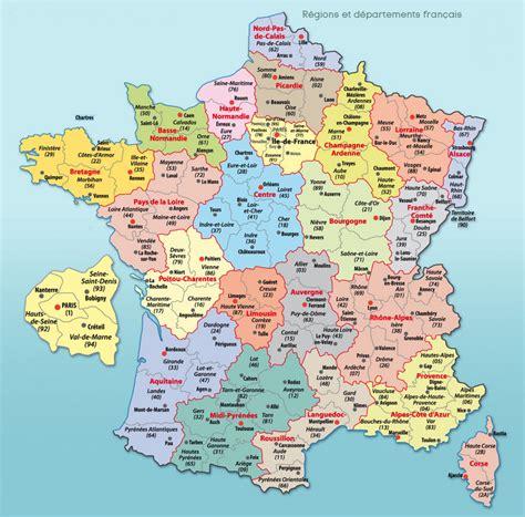 Carte Département Ville carte de d 233 partements villes et r 233 gions arts et