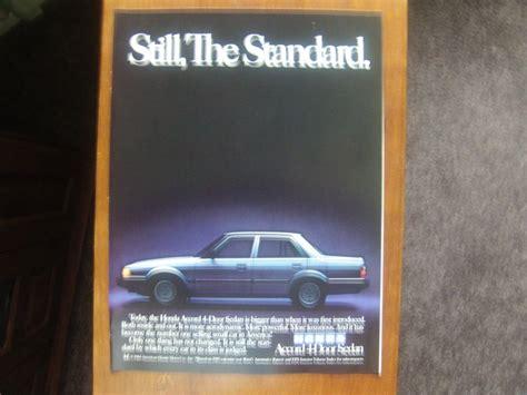 1985 Honda Accord 4 Door Sedan Classic Vintage