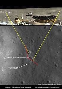 China's Chang'e-3 Lander and Yutu Moon Rover - from Above ...