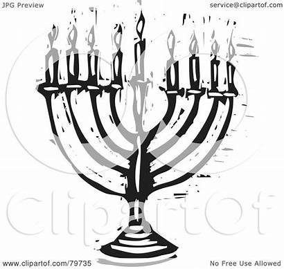 Menorah Carved Clipart Royalty Illustration Xunantunich Rf