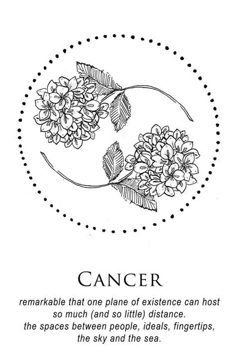 Flowers and circle | Ink | Horoscope tattoos, Cancer tattoos, Tattoos