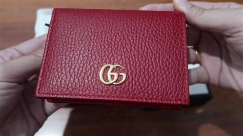 gucci card case compact wallet unboxing youtube