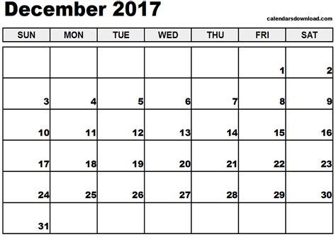 Free Calendar Template 2017 December 2017 Calendar Template Weekly Calendar Template