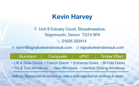 double glazing business card