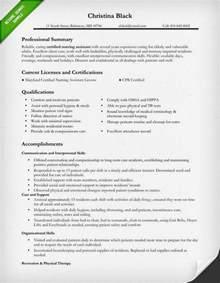 Nursing Assistant Resume Sample