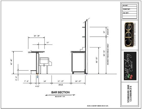 Bar Design Dimensions by Drawing Of Standard Ergonomic Bar Clearances Bar In 2019