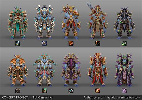 arthur lorenz world  warcraft racial class armor