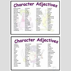 Character Adjectives Vocabulary Mat