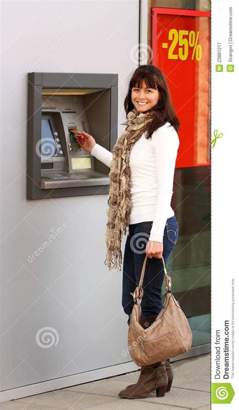 woman   atm royalty  stock photography image