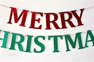 glitter merry christmas letter banner merry christmas With christmas letter banner