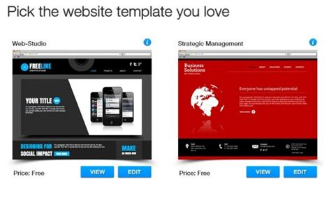 wix templates wix review build a website for free