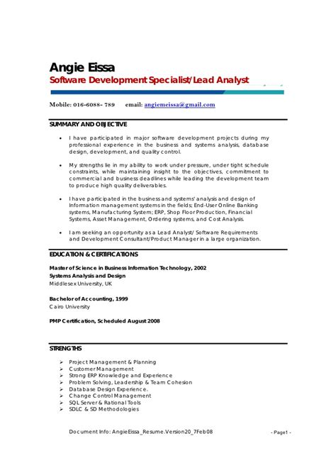 Document Specialist Resume by Angie Eissa Resume V20