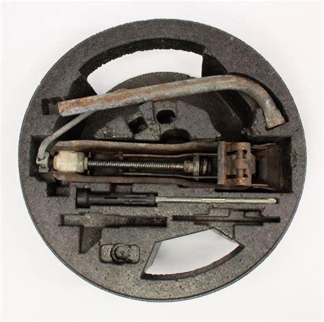 spare tire trunk tool kit jack lug wrench   jetta golf gti mk genuine