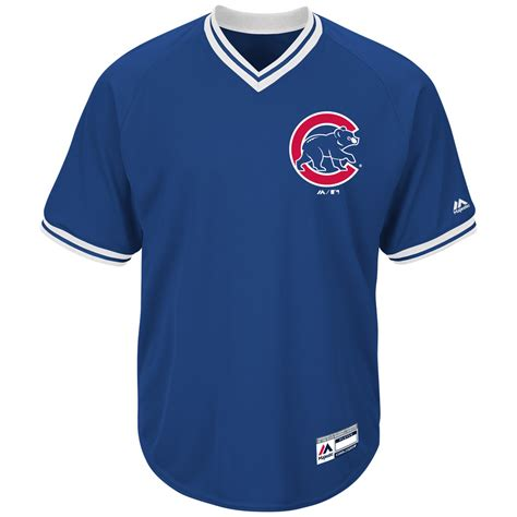 chicago cubs cool base short sleeve  neck jersey  majestic  sportsworldchicagocom