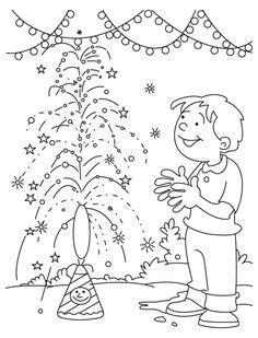 diwali drawing scenes  kids  childrens  happy