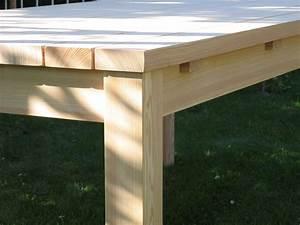 Treppenwangen Holz Kaufen : gartentisch aus l rche unbehandelt ~ Lizthompson.info Haus und Dekorationen