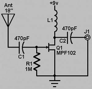 simple fm crystal radio schematic simple free engine With active fm antena