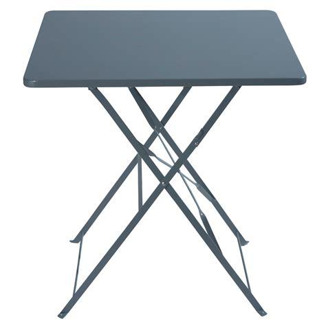 table de pliante table pliante de jardin en m 233 tal l 70 cm guinguette maisons du monde