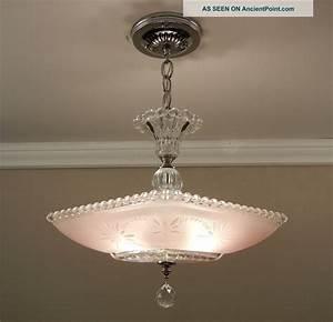Vintage art deco flush mount ceiling light fixture from