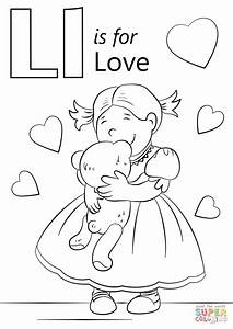 Letter L Is For Love Coloring Page Free Printable