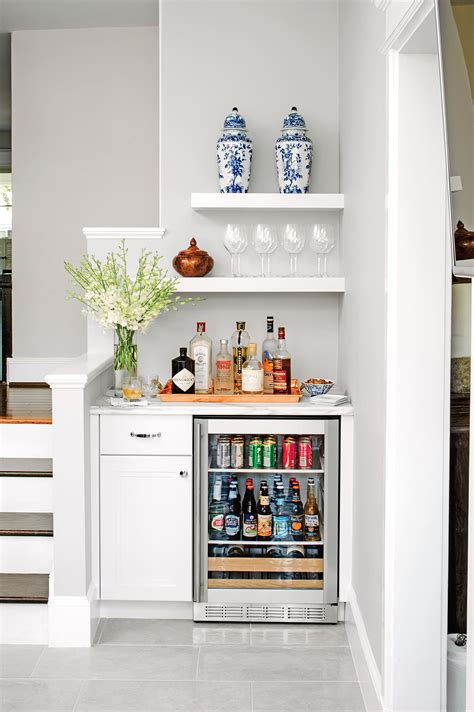 Bar Ideas For Small Spaces by Bar Nook With Mini Fridge Home Stuff In 2019 Bars For