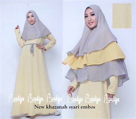 new khazanah kuning baju muslim gamis modern