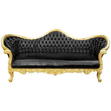canapé napoléon 3 canapé baroque napoléon iii tissu simili cuir noir et bois