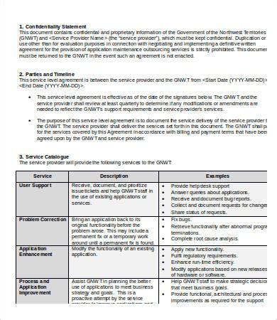 sla template service level agreement template 15 free word pdf documents free premium templates
