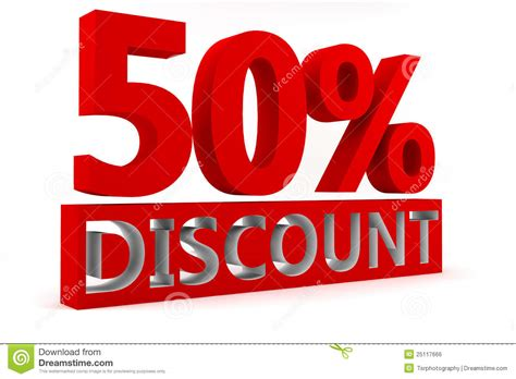 50% Discount Stock Illustration. Image Of Percent, Finance