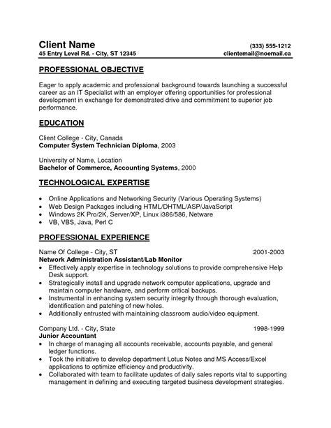10 popular resume entry level resume exles writing resume sle writing resume sle