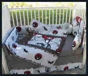 custom made new nightmare before christmas crib bedding
